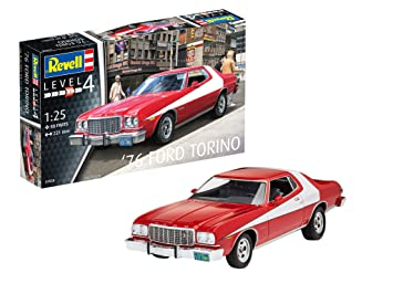 Revell Revell-1976 Maqueta 1976 Ford Torino, Kit Modelo, Escala 1:25 (7038)(07038), Color Rojo, 22,1 cm de Largo (
