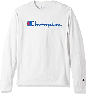 0d3a621c Champion Men's Classic Jersey Script T-Shirt | Amazon.com