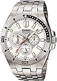 CASIO 19152 MTD-1060D-7A - Reloj Caballero cuarzo brazalete metálico dial blanco