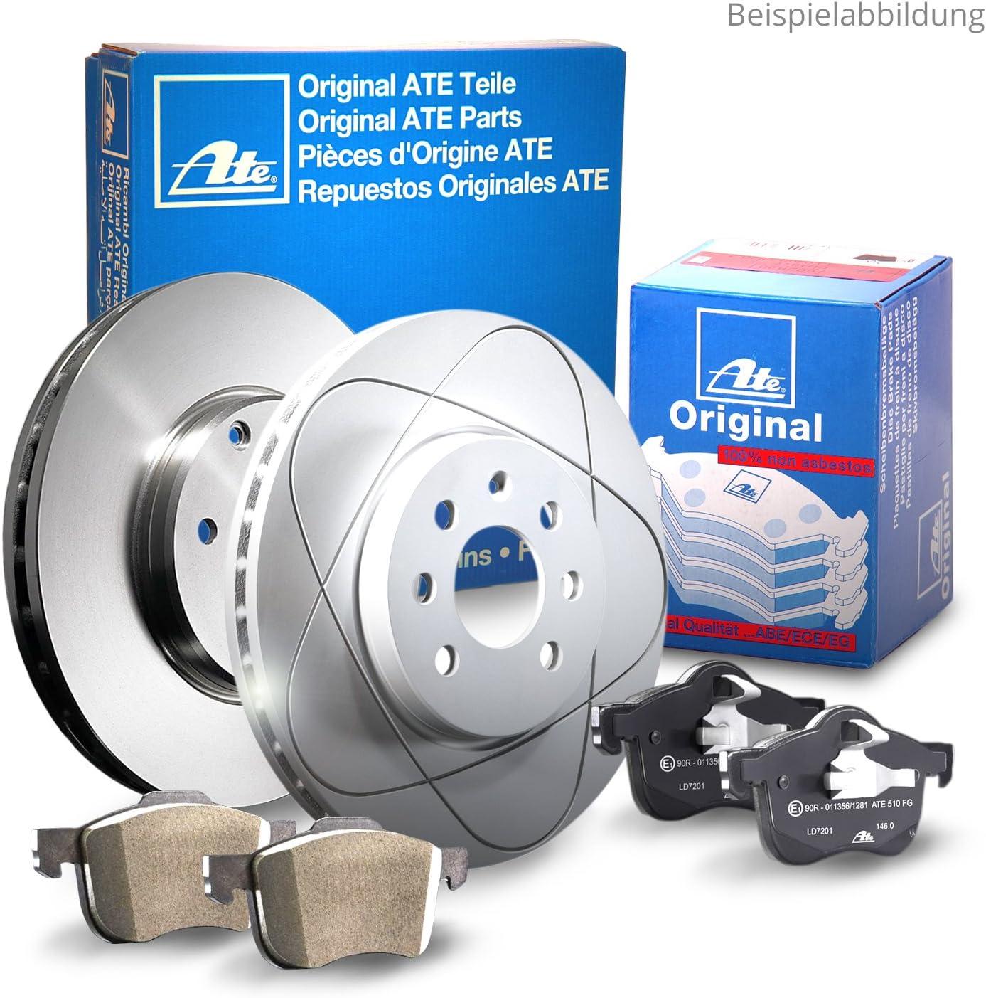 2 Bremsscheiben Voll 262 mm Bremsbel/äge ATE 1420-22027 Bremsanlage