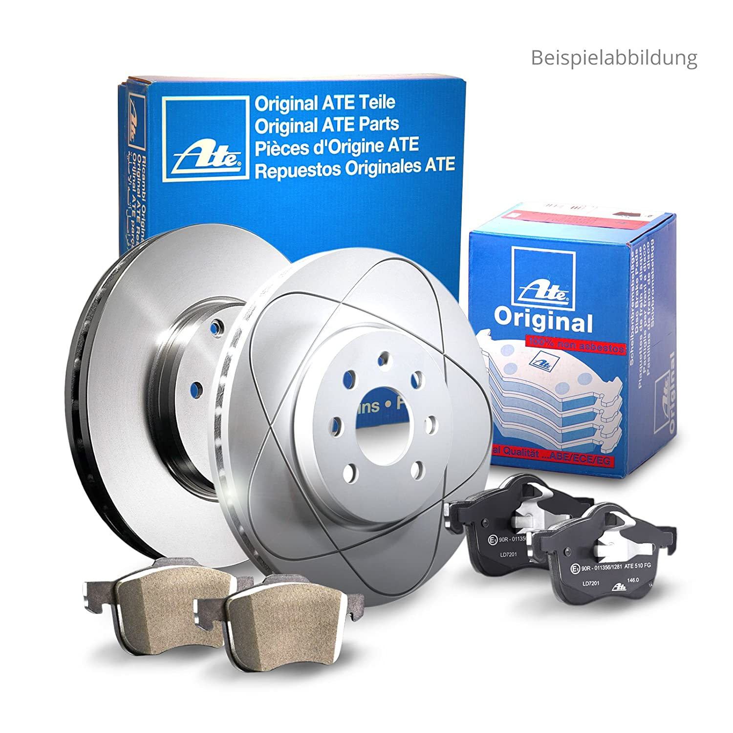 ATE front axle brake set with brake discs and brake pads (1420-22492)