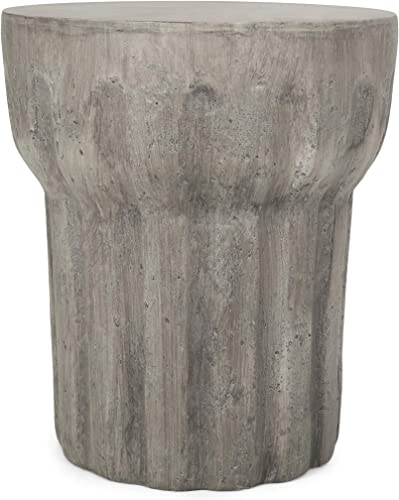 Christopher Knight Home 312773 Solomon Outdoor Contemporary Lightweight Accent Side Table