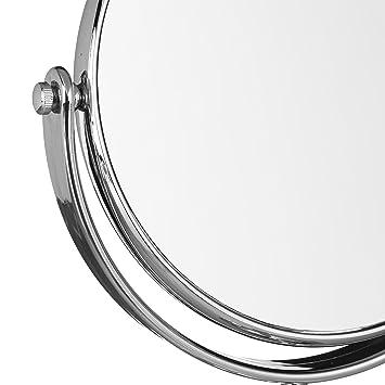 Amazon.com: Relaxdays – Espejo de vanidad, redondo de pie ...