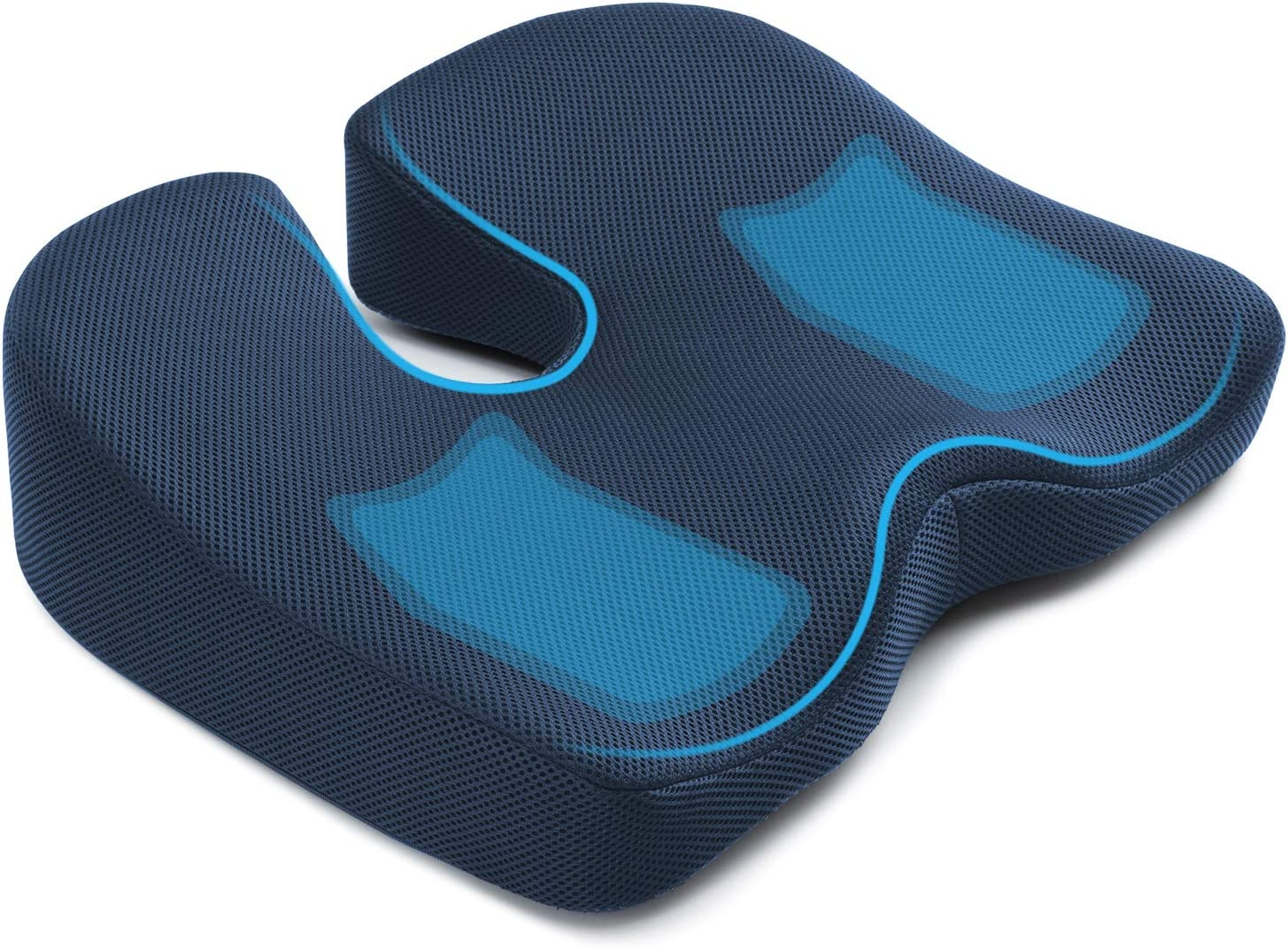 Amazon Com Seat Cushion For Office Chair Mkicesky Memory Foam Coccyx Cushion Relieve Tailbone Lower Back Hip Sciatica Pain Ergonomic Seat Pad For Car Wheelchair Desk Chair And Sitting On Floor
