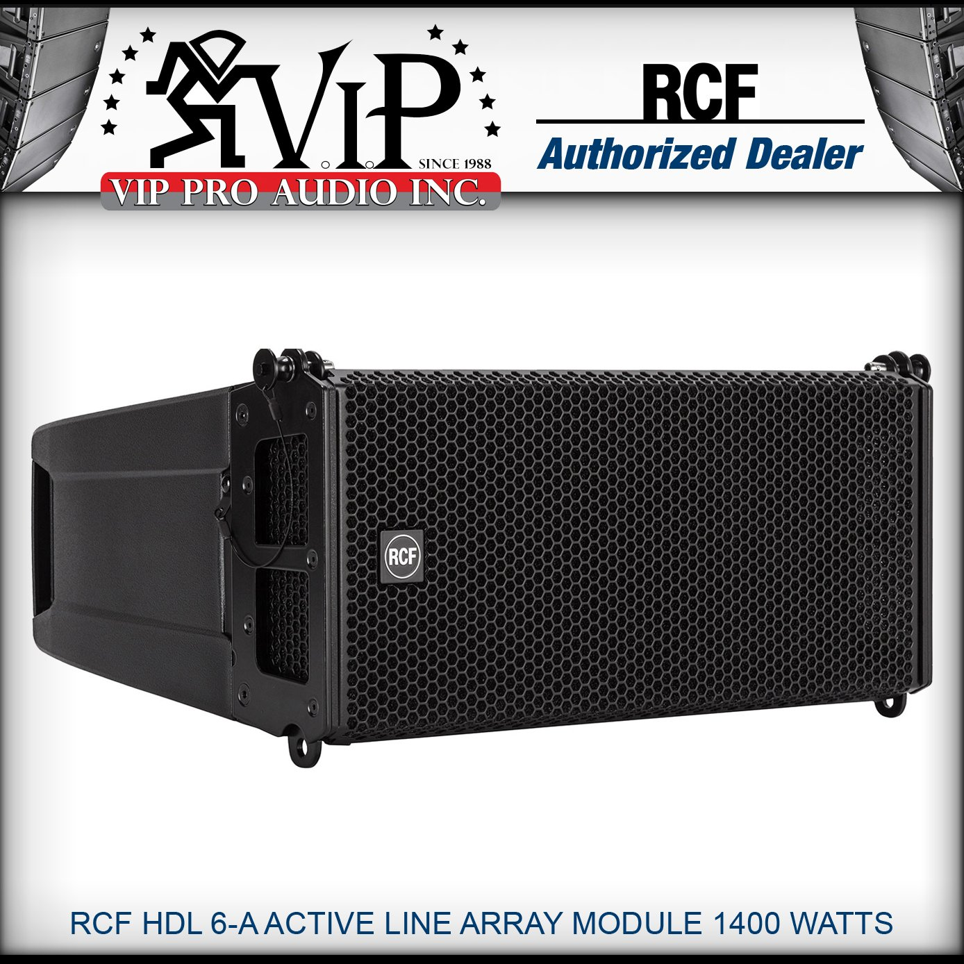 RCF HDL 6-A Active Line Array Module 2x6' 1400 Watt Two-Way Powered Speaker