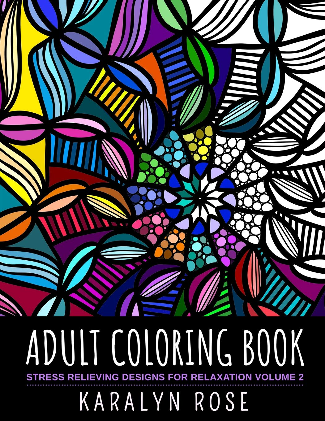 - Adult Coloring Book: Stress Relieving Designs For Relaxation