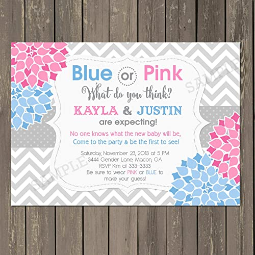 Amazoncom Gender Reveal Party Invitation Gender Reveal Baby