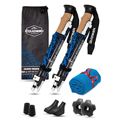 Equipeak Collapsible Folding Hiking & Trekking Poles