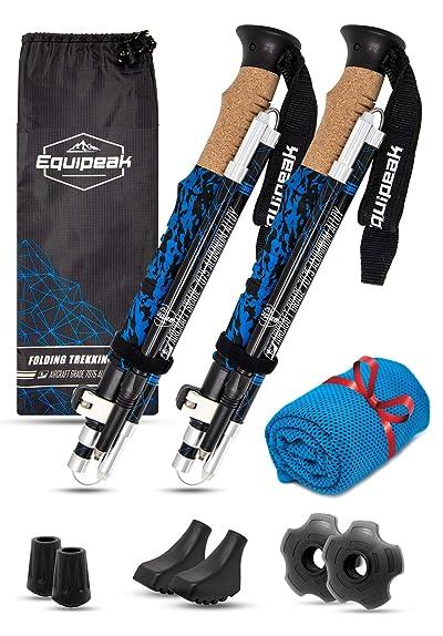 Equipeak Collapsible Folding Hiking & Trekking Sticks