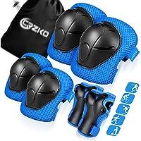 CRZKO Beschermende uitrusting voor kinderen/tiener, kniebeschermers en elleboogbeschermers 6-in-1 set met…