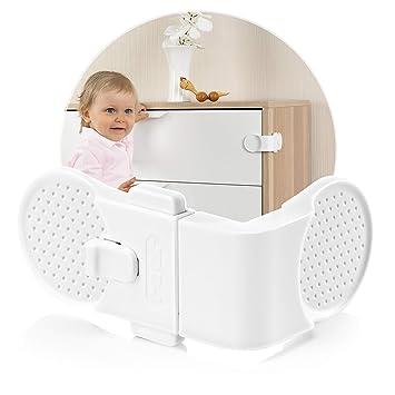 reer Schubladensicherung Schrank Baby Kinder sicherung Schloss selbstklebend NEU