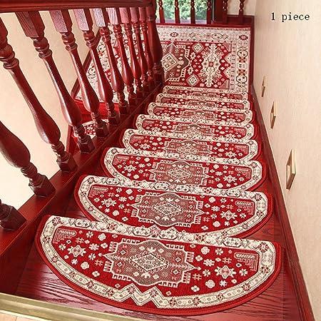 Pegamento Gratis Autoadhesivo Mezclado Almohadilla de la Escalera Step Mat Escaleras de Caracol de Madera Maciza Antideslizantes para el hogar (Color : 8, Tamaño : 24 * 75cm): Amazon.es: Hogar