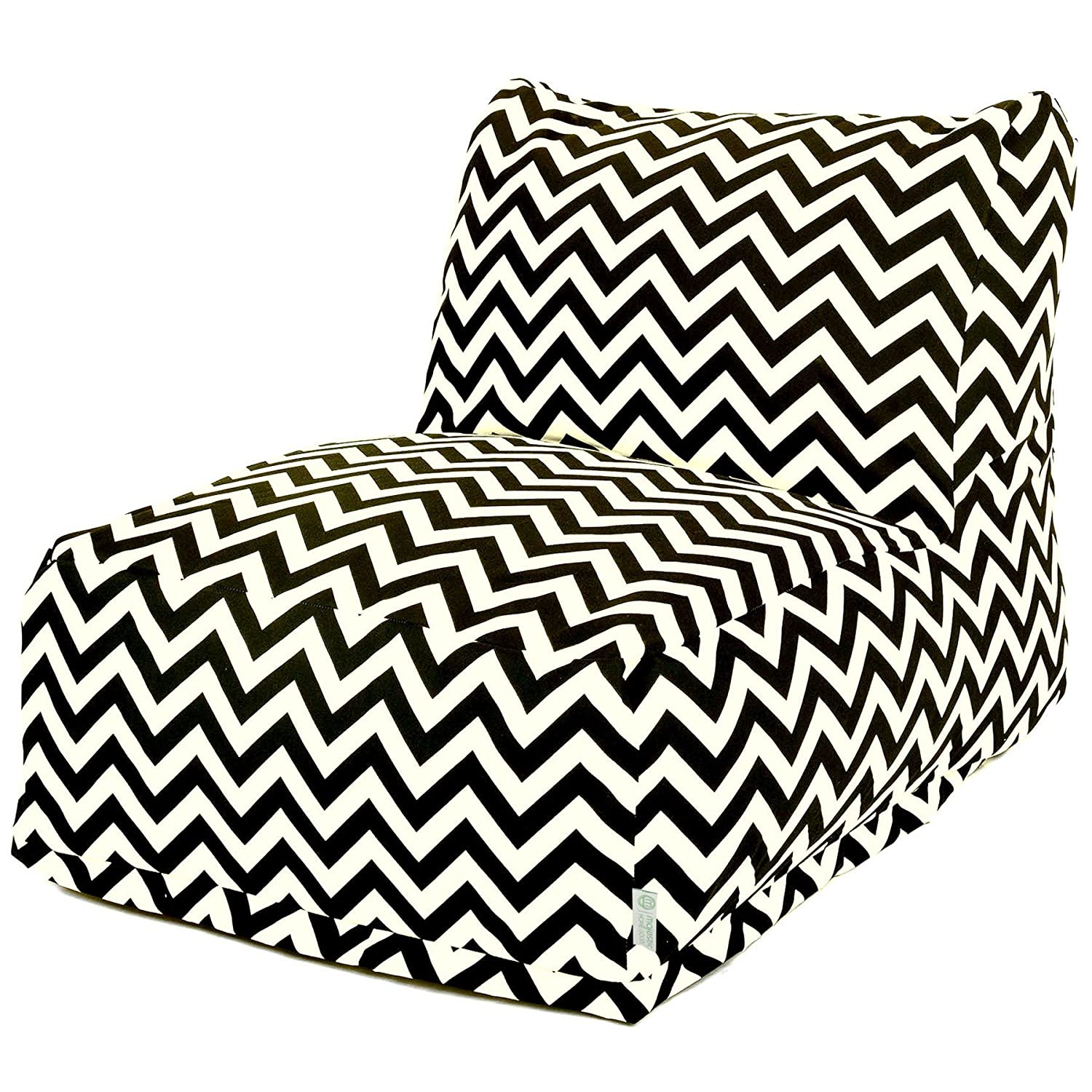Groovy Majestic Home Goods Black Zig Zag Bean Bag Chair Lounger Machost Co Dining Chair Design Ideas Machostcouk