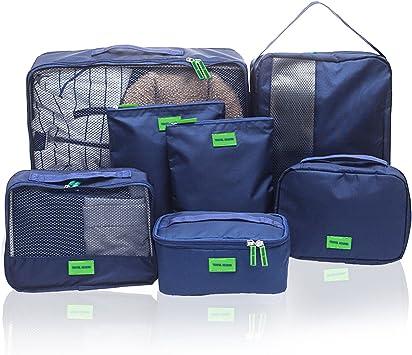 Hiveseen 7 En 1 Bolsas Organizador De Maletas Viaje, Packing ...