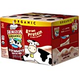 Horizon Organic Low Fat Organic Milk Box, Strawberry, 8 Ounce (Pack of 12)
