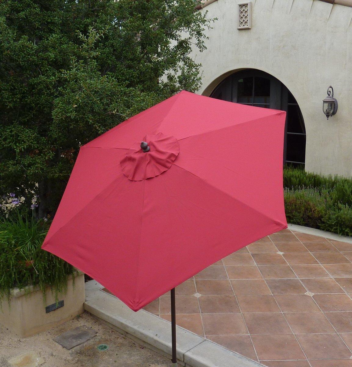 Amazon.com : 7.5ft Aluminum Market Umbrella Crank U0026 Tilt Color Sage Green : Patio  Umbrellas : Garden U0026 Outdoor