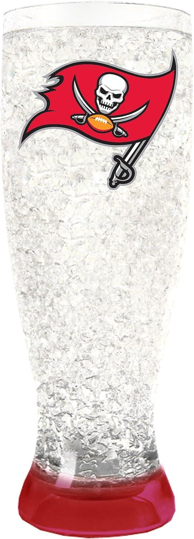 NFL Tampa Bay Buccaneers 16oz Crystal Freezer Pilsner