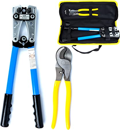 6-50mm² Hydraulic Wire Battery Cable Lug Terminal Crimper Crimping Tool