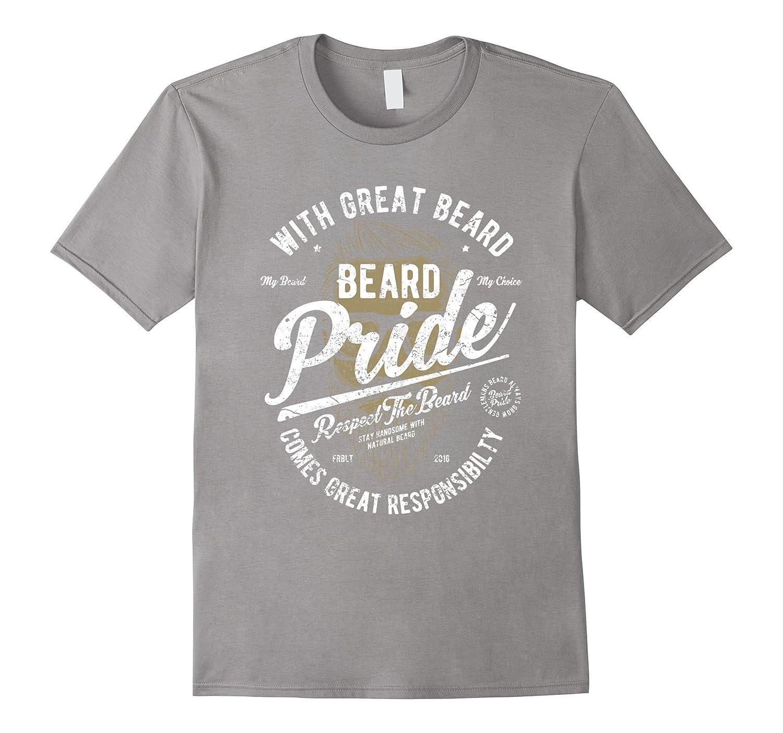 Beard Pride Vintage Graphic t Shirt-Vaci