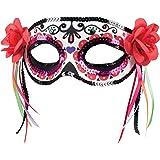 Boland 97525 - Máscara de Ojos Dia de los Muertos La Patrona, Otros Juguetes