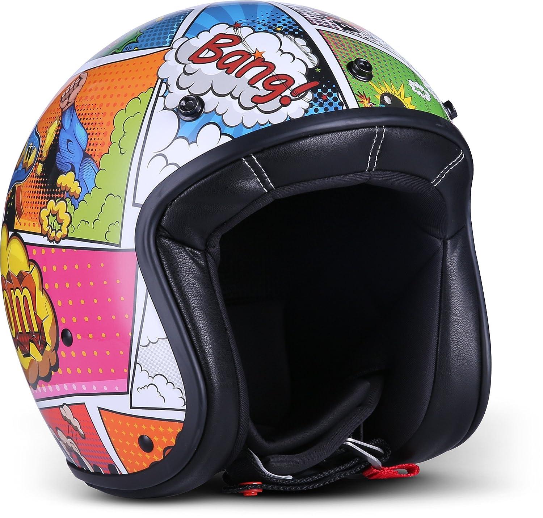 """Rebel  R9 """"Matt Black"""" (Schwarz)  Jet-Helm  Bobber Roller Motorrad-Helm Mofa Scooter-Helm Chopper  ECE zertifiziert  DOT zertifiziert  Fiberglass  Extra kleine Helmschale  XXL (63-64cm) Verständig & Lang GmbH R9_MATT-BLACK_XXL"""