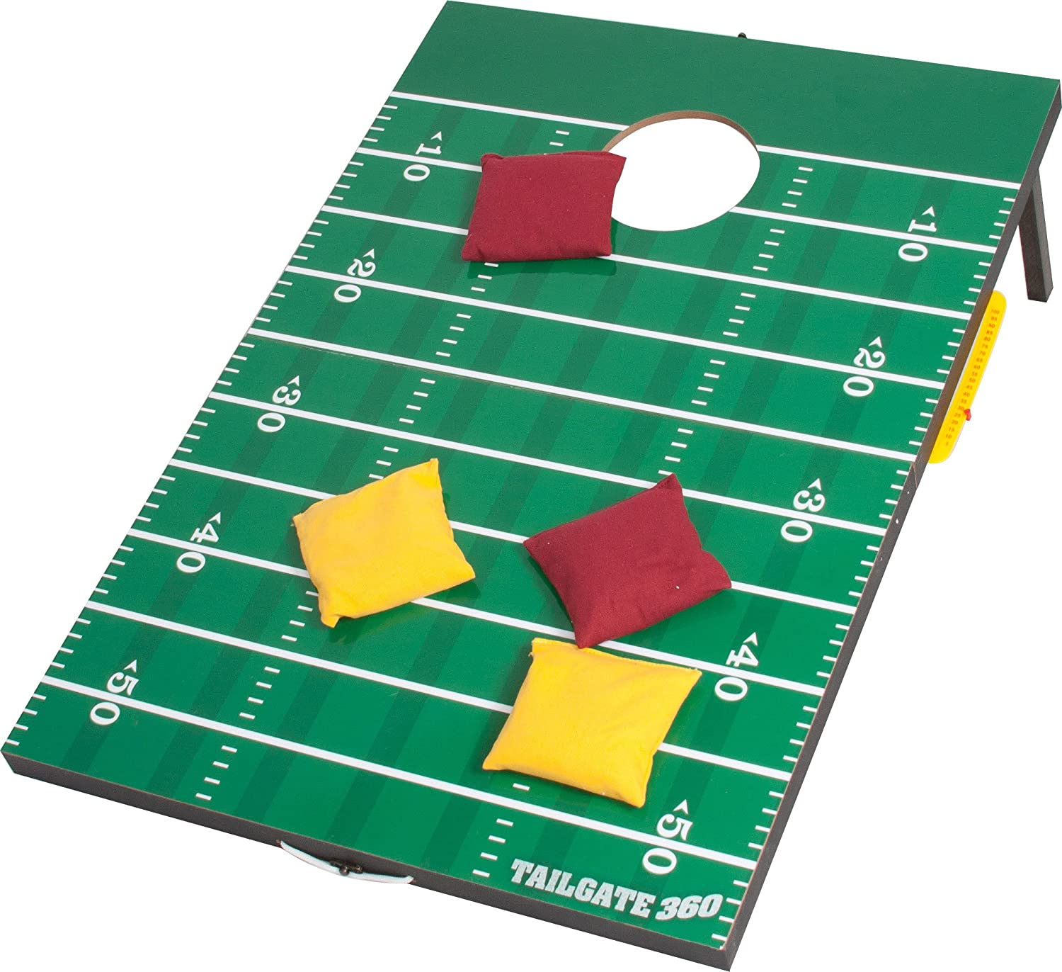 Amazon.com: Tailgate 360 Football Bean Bag Toss And Corn Hole Toss Set   Portable With Score Counter And Carrying Handles: Sports U0026 Outdoors