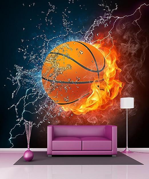StickersNews – Stickers Gigante Déco de balón de Baloncesto 11084 ...