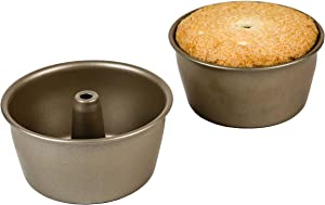 Ecolution Bakeins Mini Angel Food Cake Pan, 2pc, Champagne