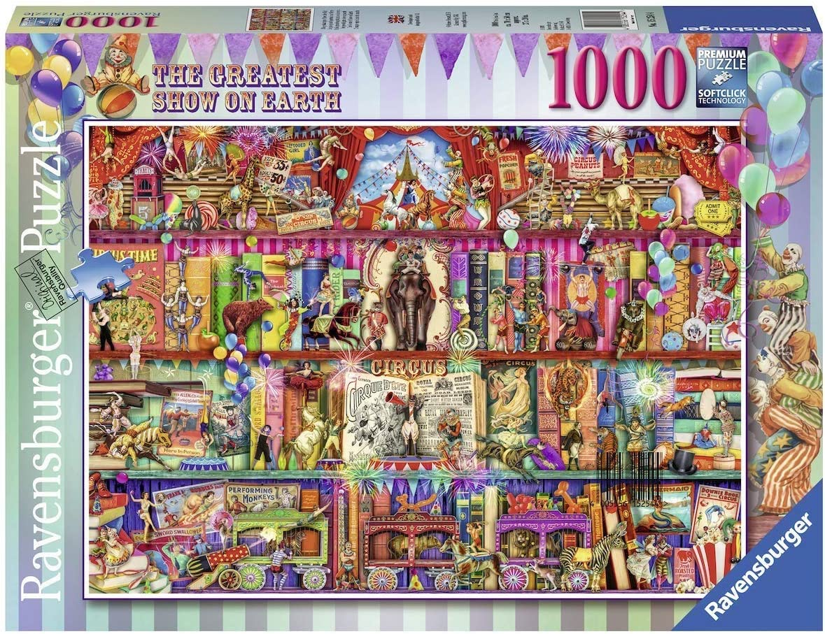 Ravensburger The Greatest Show on Earth 15254 1000 Piece Puzzle for Adults, Every Piece is Unique, Softclick Technology Means Pieces Fit Together Perfectly