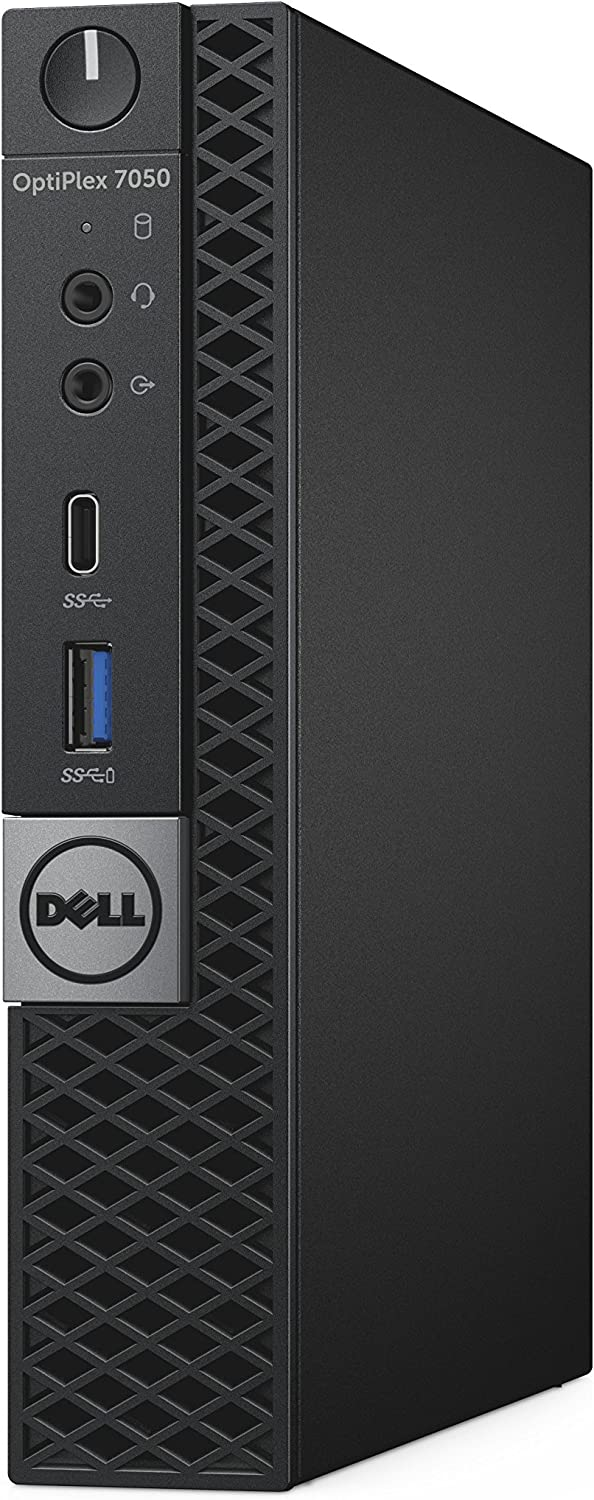 Dell OptiPlex 7050 Micro Form Factor Desktop Computer, Intel Core i7-7700T, 8GB DDR4, 256GB Solid State Drive, Windows 10 Pro (T6H1F)