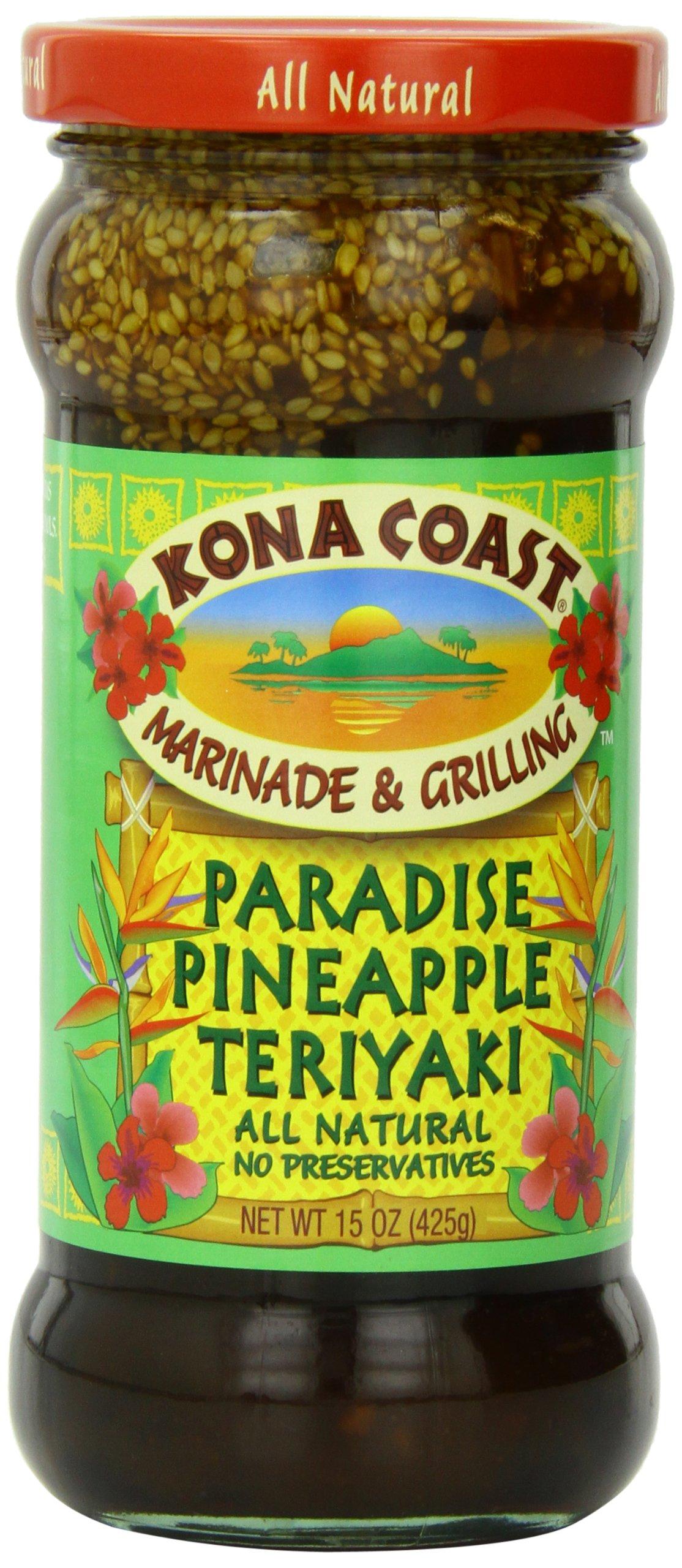 Amazon.com : Kona Coast Teriyaki Sauce, Island, 15 Ounce : Island ...