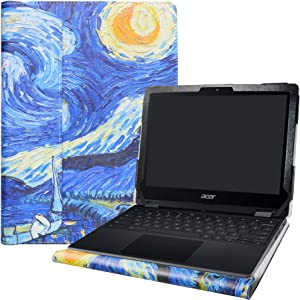 """Alapmk Protective Case Cover for 12"""" Acer Chromebook Spin 512 R851TN/Acer Chromebook 512/Acer Chromebook 712 C871T C871 Series Laptop [Note:Not fit Other Acer Chromebook Laptop],Starry Night"""