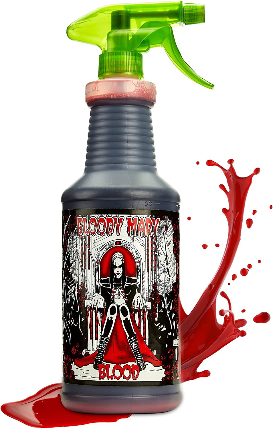 Bloody Mary Fake Blood Makeup Spray - for Theater and Costume or Halloween Zombie, Vampire and Monster Dress Up (X-Large - 28 oz)