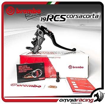 Brembo Corsa corta 110 C74010 rcs19 mastercylinder W/plegable – Palanca de freno, 110