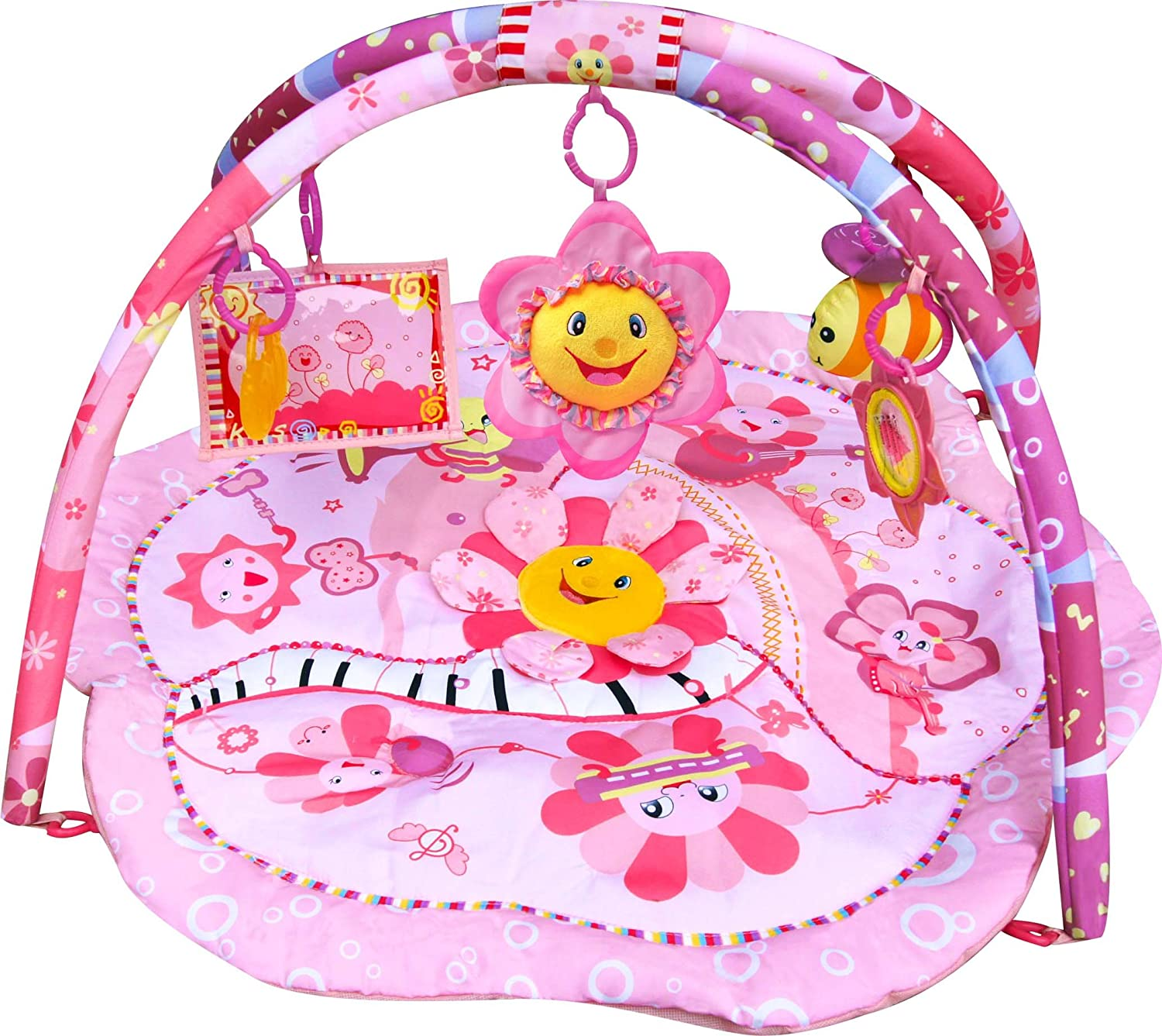 baby kick infant gym crawl floor musical activity mat rainforest bedding toys butterfly grasp play floors