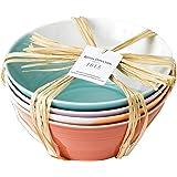 "Royal Doulton 1815TW26725  Bright Colors Mixed Patterns Noodle Bowls (Set of 4), 8.3"", Multicolor"