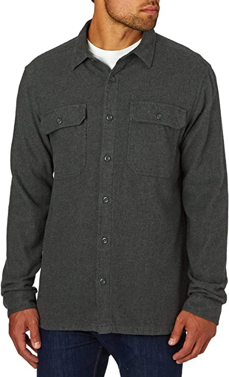 TALLA S. Patagonia 53947-FGE-S - M's l/s fjord flannel shirt color: forge grey talla: s
