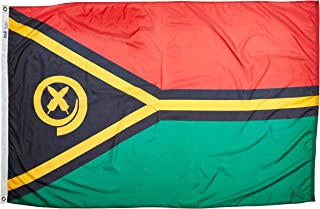 product image for Annin Flagmakers Model 199256 Vanuatu Flag Nylon SolarGuard NYL-Glo, 4x6 ft, 100% Made in USA to Official United Nations Design Specifications