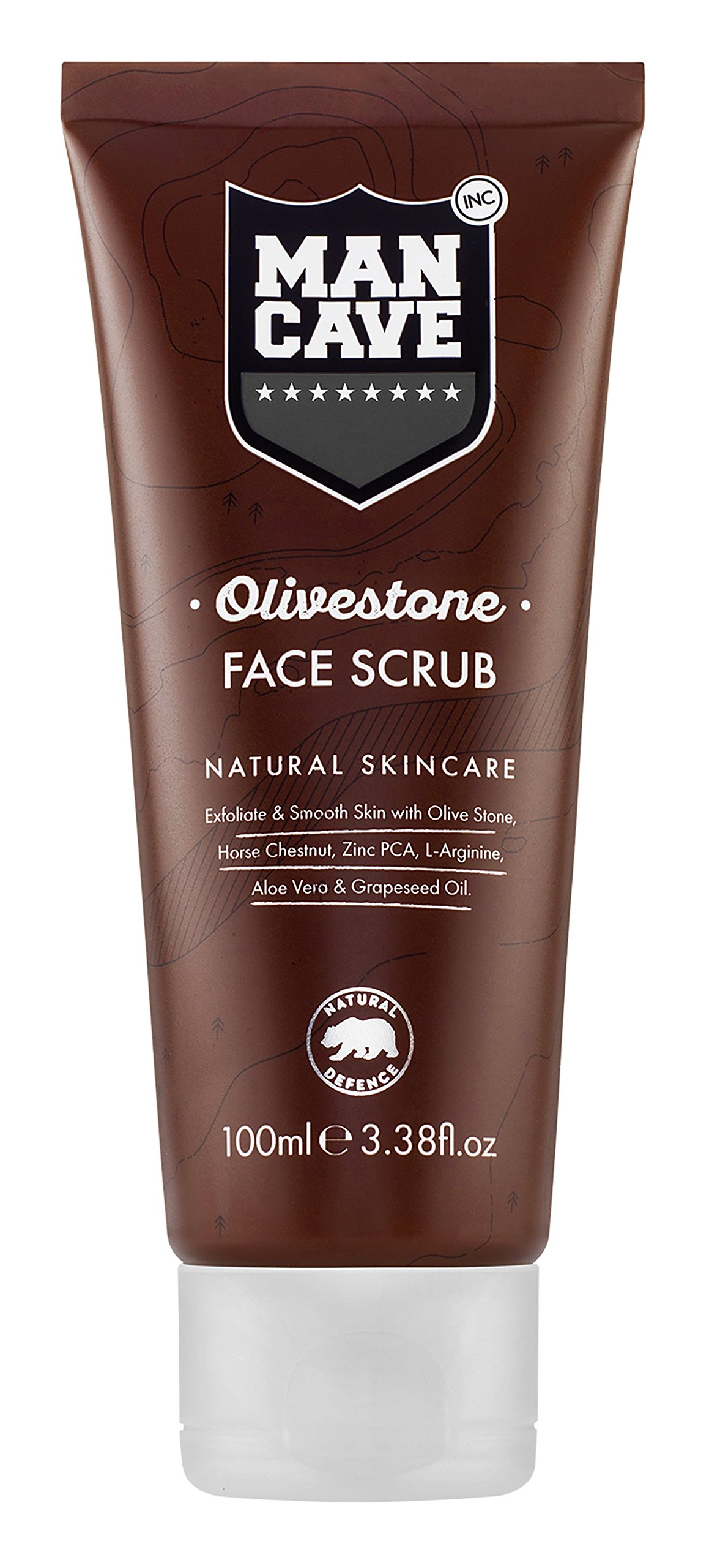 ManCave Olivestone Natural Skin Care Face Scrub, 3.38 Oz [ Secret Key ] The Premium Snow White Toning Cream 50ml