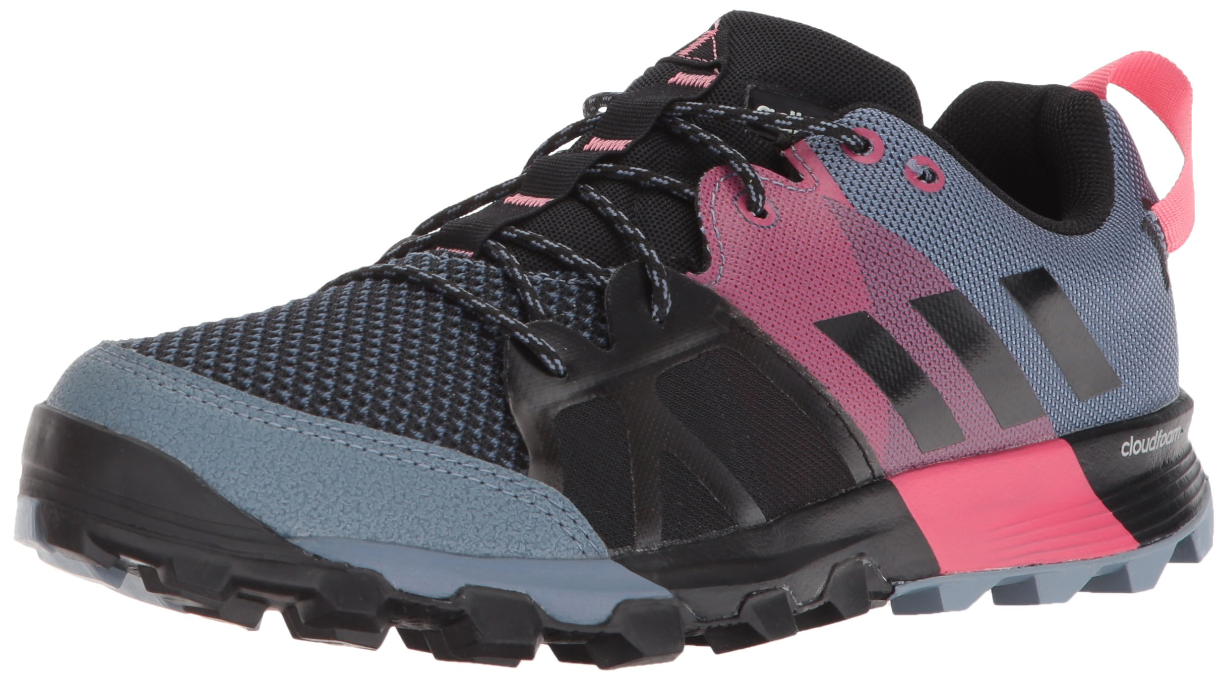 adidas outdoor Women's Kanadia 8.1 W Trail Running Shoe, Raw Steel/Off White/Real Pink, 8 M US