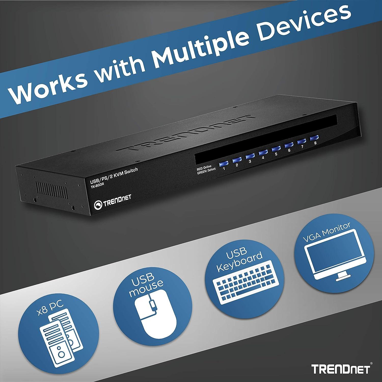 TRENDnet TK-CU06 Cavo KVM USB//VGA Lunghezza da 1.80 m