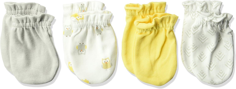 Luvable Friends Baby Girls Cotton Scratch Mittens