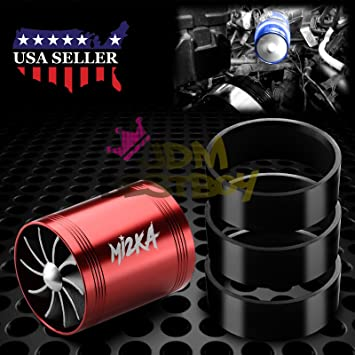 Mi2KA Turbine Air Intake Fuel Gas Saver Dual Fan Double Turbonator Acceleration System Turbo 2.5""