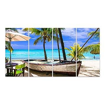 Dekoglas Glasbild Tropischer Urlaub Acrylglas Bild Kuche Wandbild
