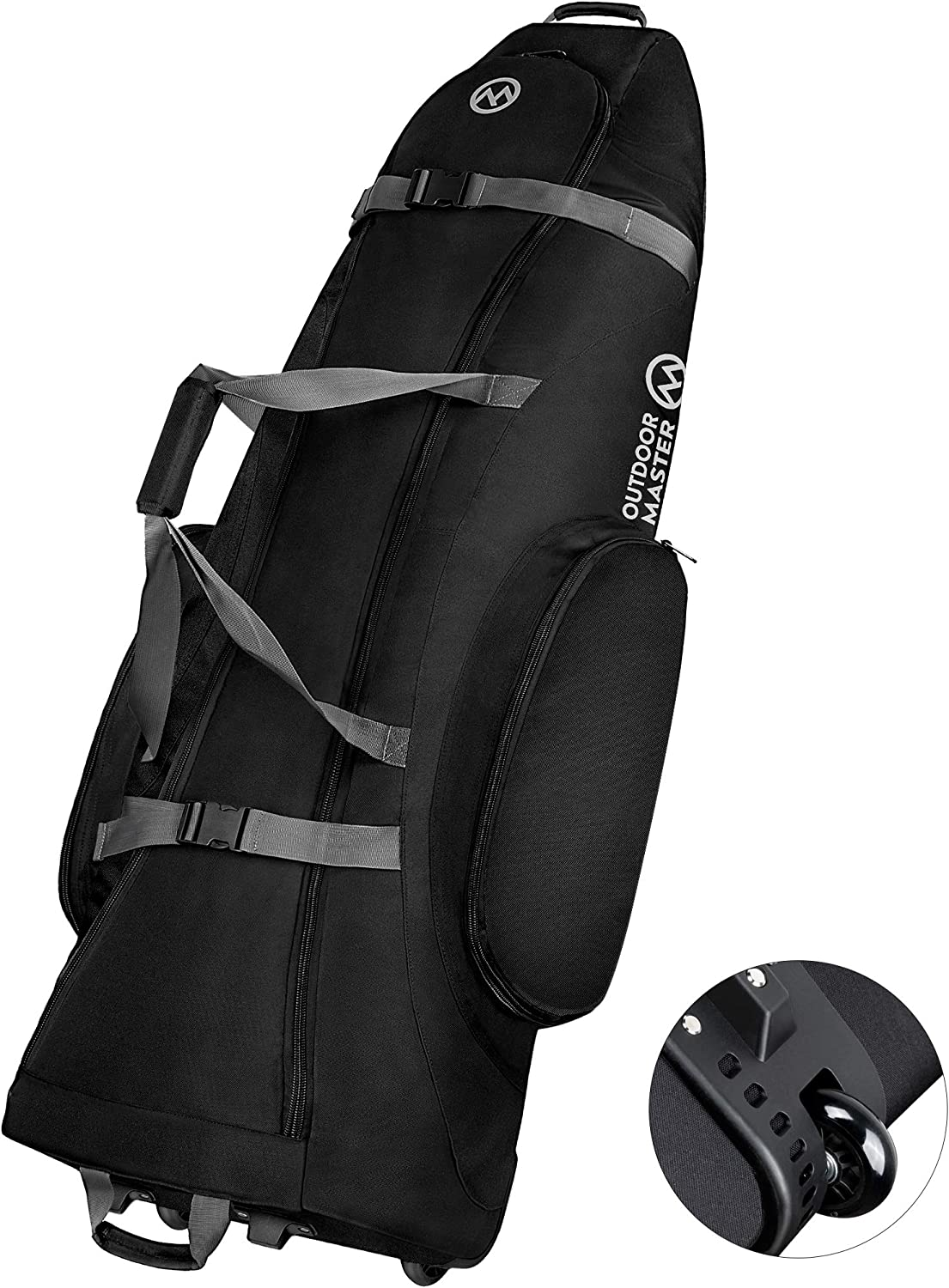 OutdoorMaster Padded Golf Club Travel Bag with Wheels, 900D Heavy Duty Oxford Waterproof -Alligators