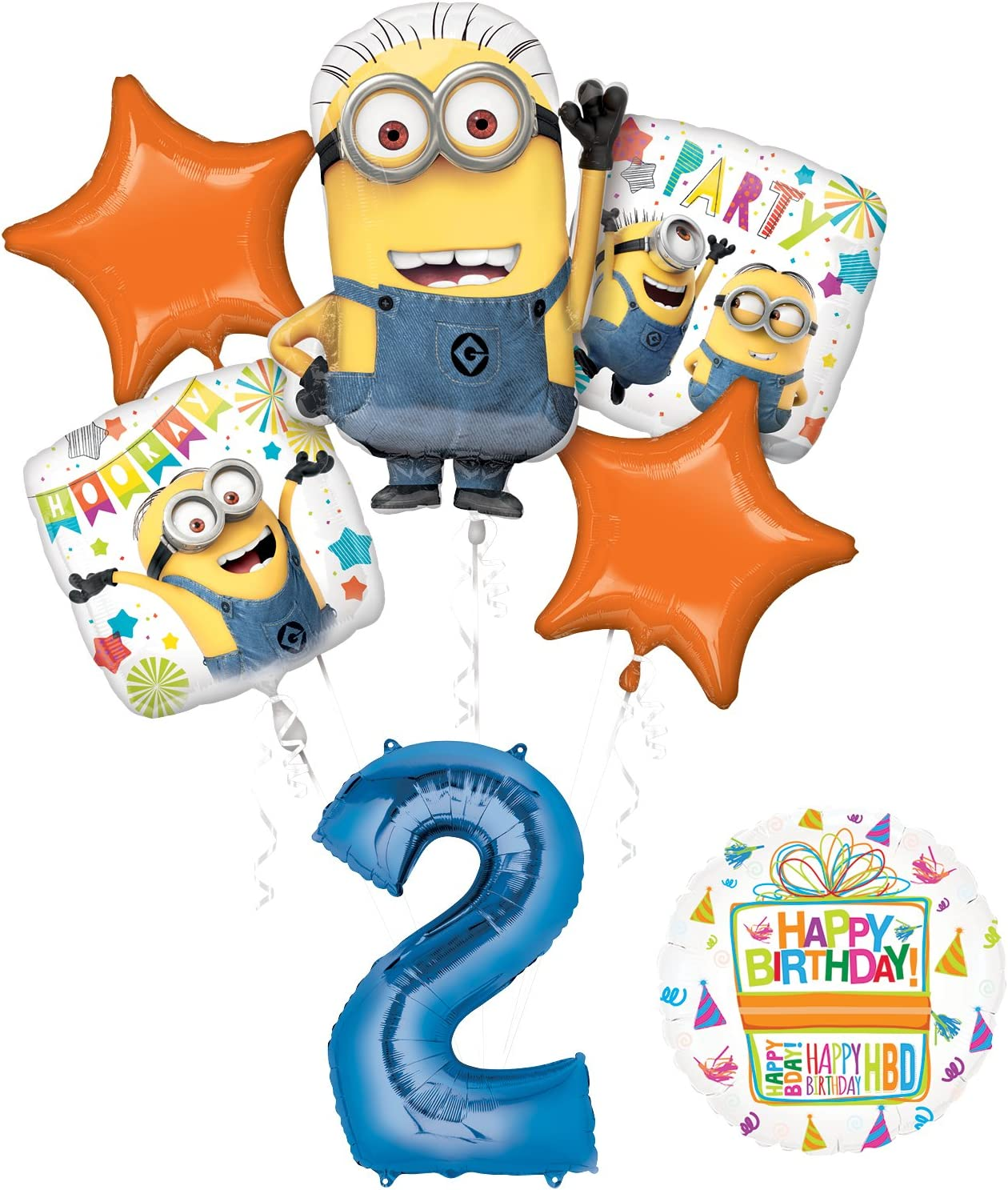 Mayflower Products Despicable Me 3 Minions 2nd Birthday Party Supplies and balloon Decorations