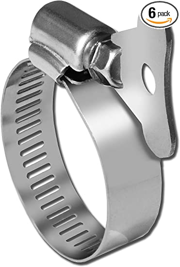 10-Pack Pro Tie 33103 SAE Size 32 Range 1-9//16-Inch-2-1//2-Inch SS Turn Key All Stainless Hose Clamp