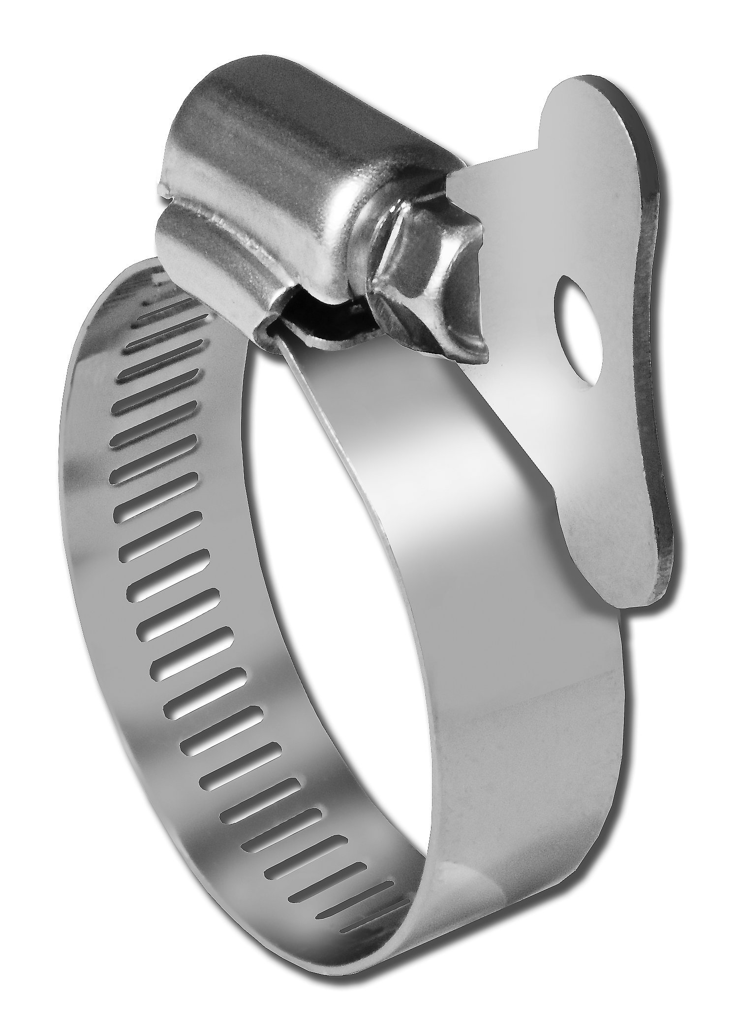 Pro Tie 33101 SAE Size 12 Range 5/8-Inch-1-1/4-Inch SS Turn Key All Stainless Hose Clamp, 10-Pack