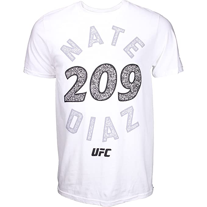 Reebok Nate Diaz Dialed In UFC Shirt - White - Small