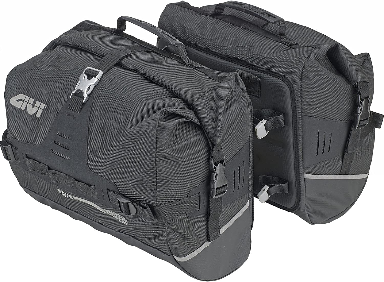 UT808 - Givi-Ultima-TRange - Bolsas Laterales Impermeables (25 + 25 L), Color Negro
